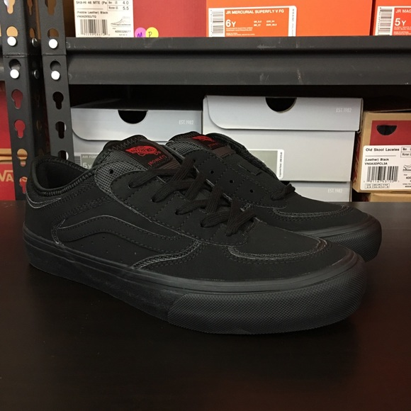 02a7e613d97 Vans Rowley Pro 50th Anniversary Triple Black NEW